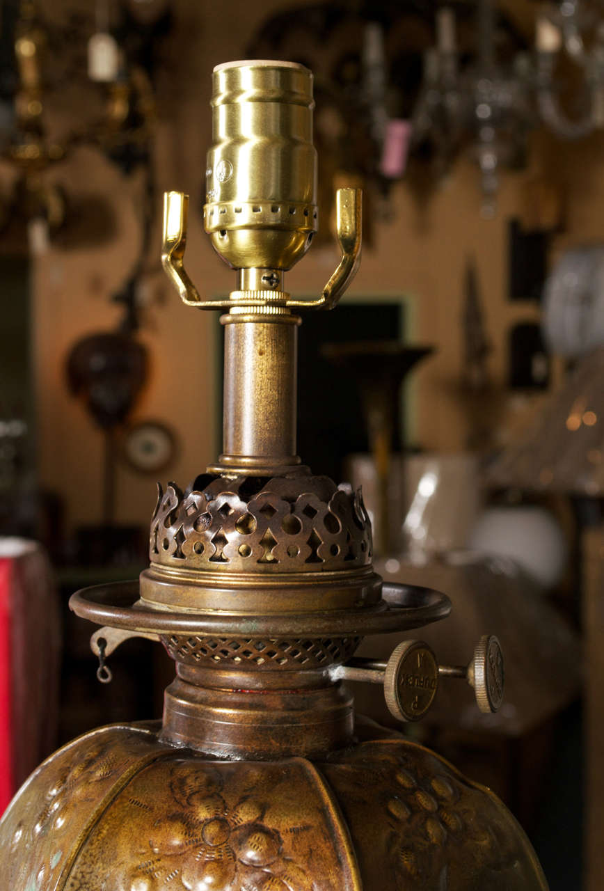 Antique Moorish Brass Repousse Floor Lamp At 1stdibs