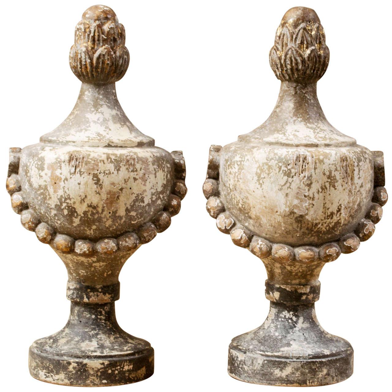 Pair Of Decorative Finials at 1stdibs