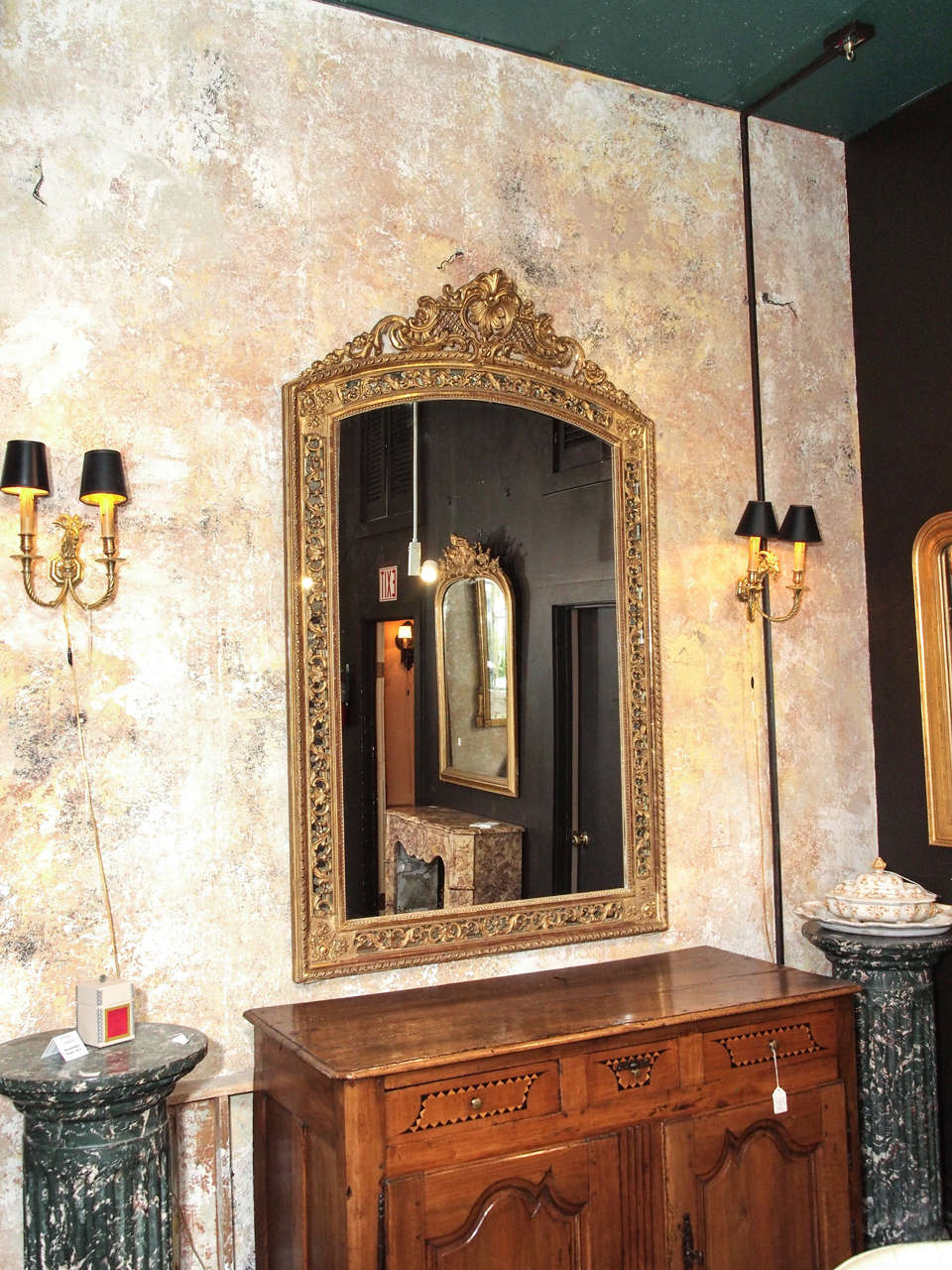 19th Century French Gold Leaf Mirror 2