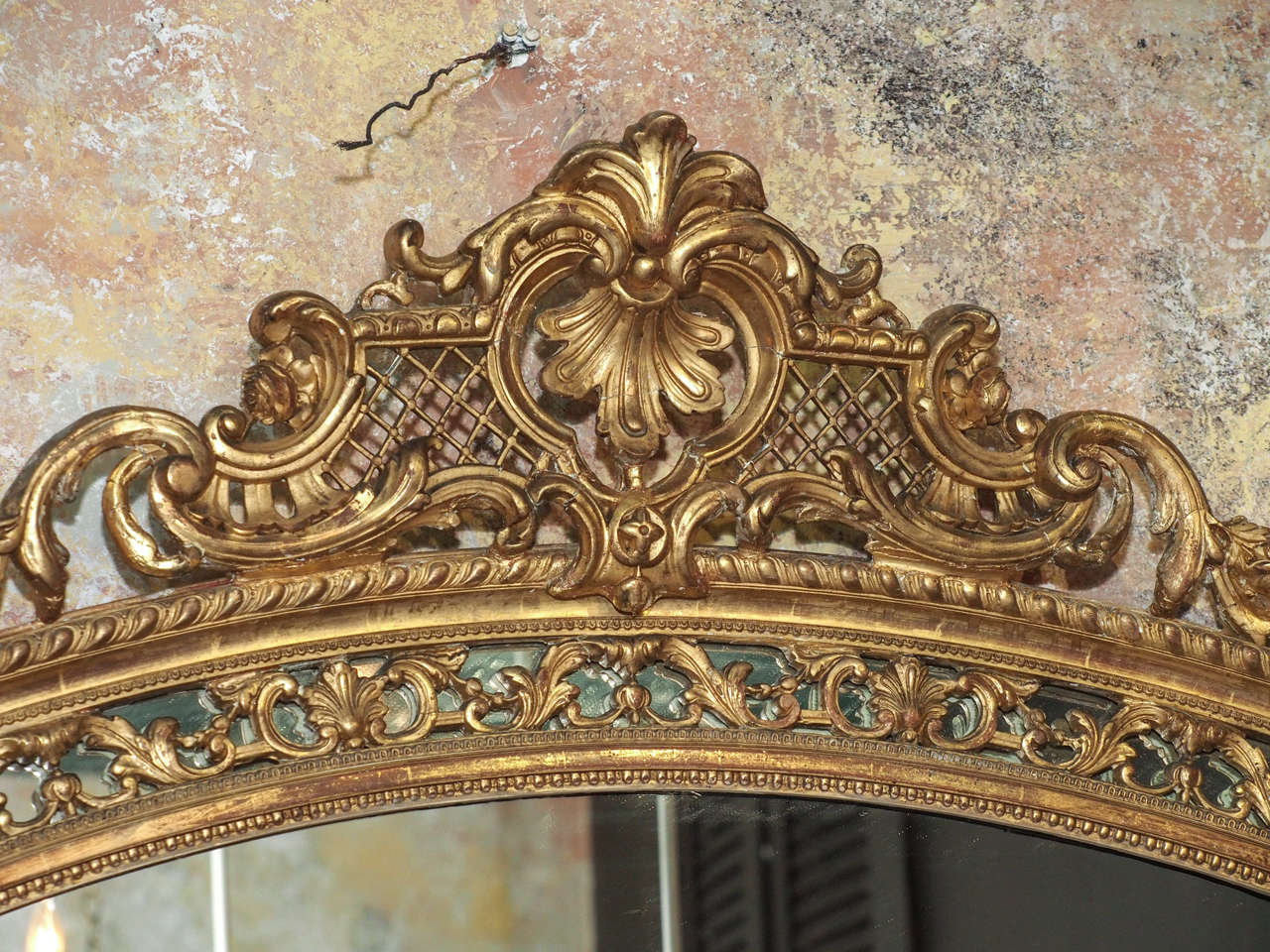 19th Century French Gold Leaf Mirror 3