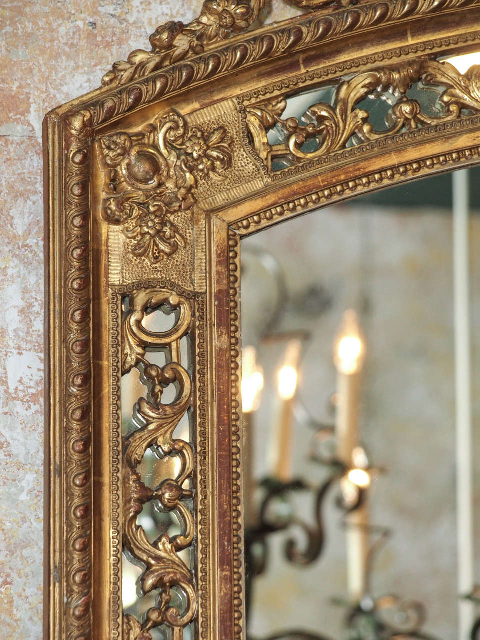 19th Century French Gold Leaf Mirror 4