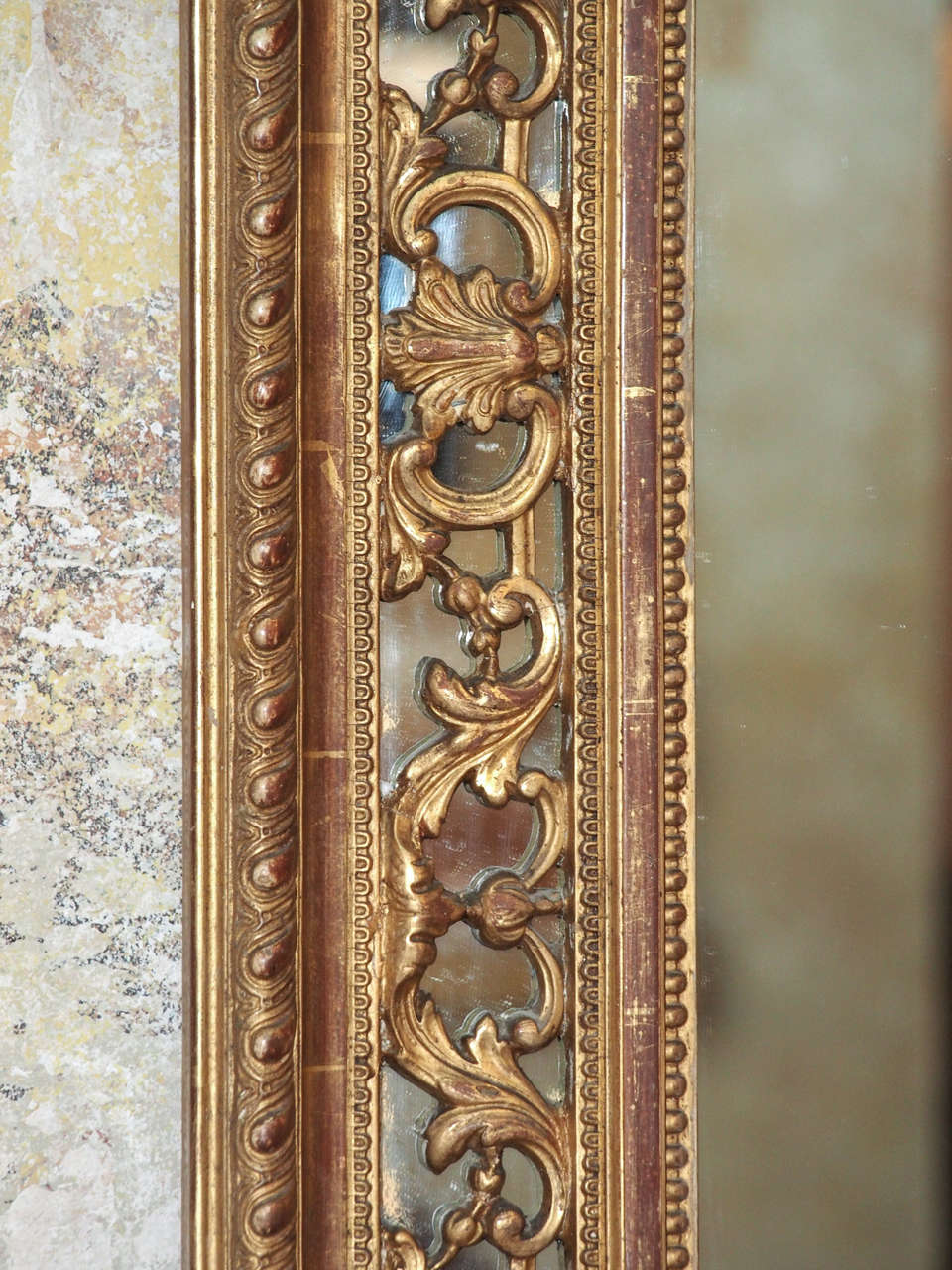 19th Century French Gold Leaf Mirror 5
