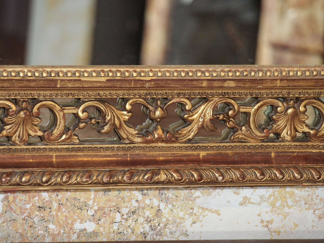 19th Century French Gold Leaf Mirror 7