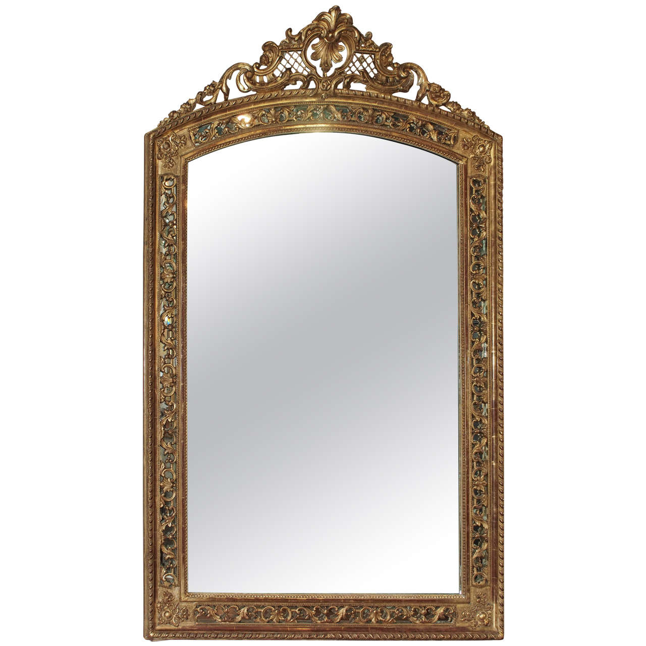 19th Century French Gold Leaf Mirror 1
