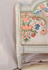 French Louis Xv1 Style Painted Day Bed image 3