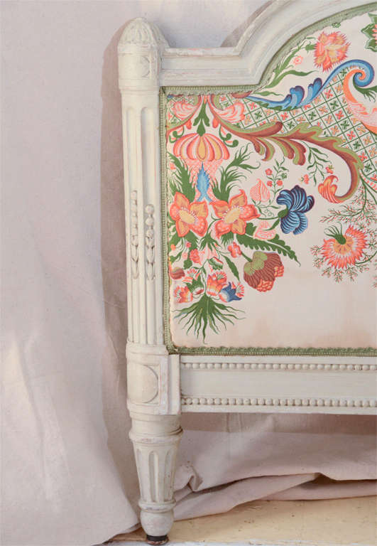 French Louis Xv1 Style Painted Day Bed 3