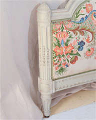 French Louis Xv1 Style Painted Day Bed image 4