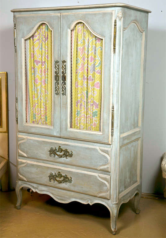 shabby chic painted armoire at 1stdibs. Black Bedroom Furniture Sets. Home Design Ideas