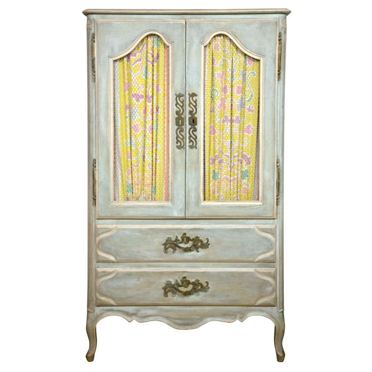 shabby chic painted armoire. Black Bedroom Furniture Sets. Home Design Ideas
