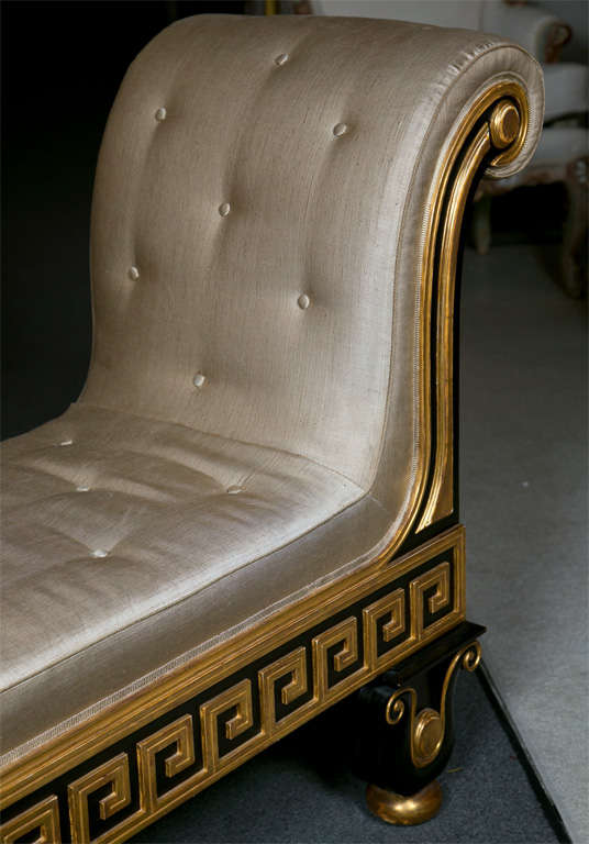 American Neoclassical Style Greek Key Bench or Sofa For Sale