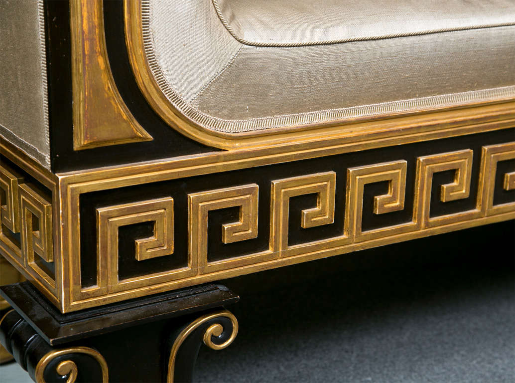 Neoclassical Style Greek Key Bench or Sofa In Good Condition For Sale In Stamford, CT
