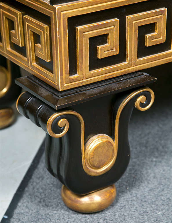 Late 20th Century Neoclassical Style Greek Key Bench or Sofa For Sale