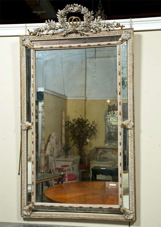 French Louis XVI Style Painted Mirror 2