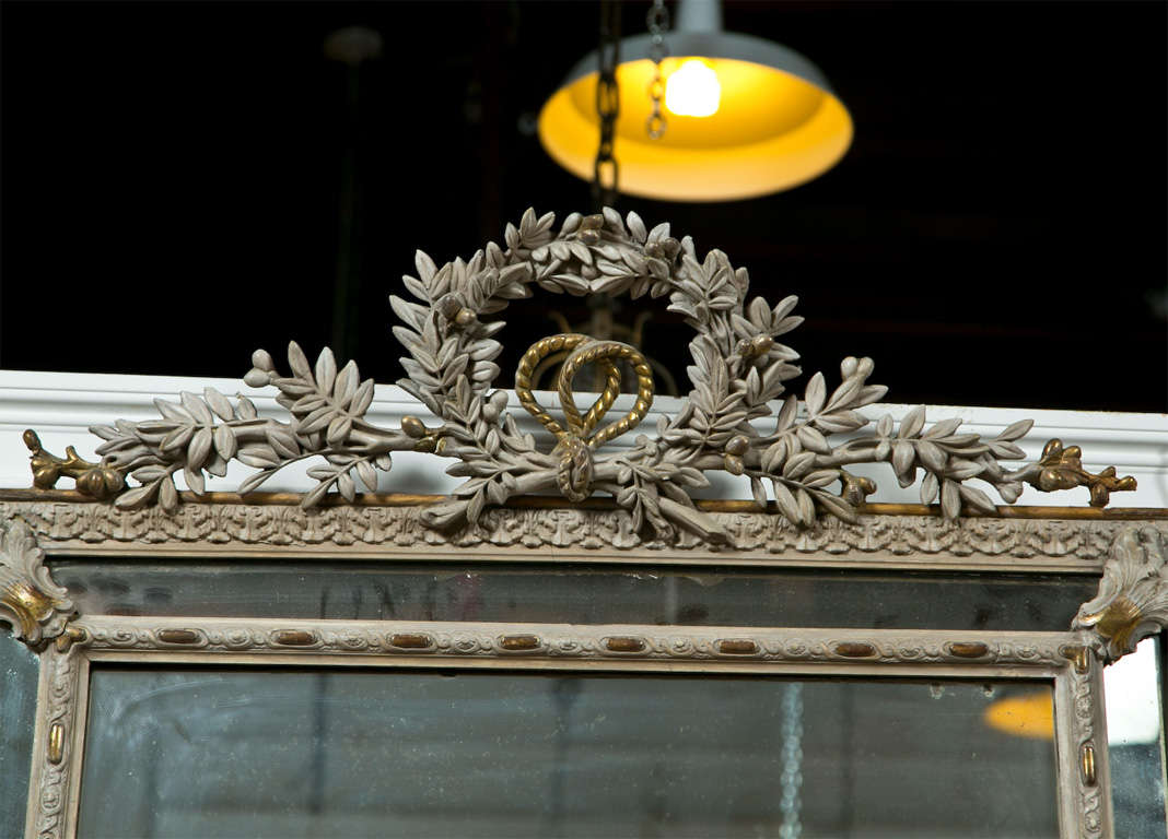 French Louis XVI Style Painted Mirror 3