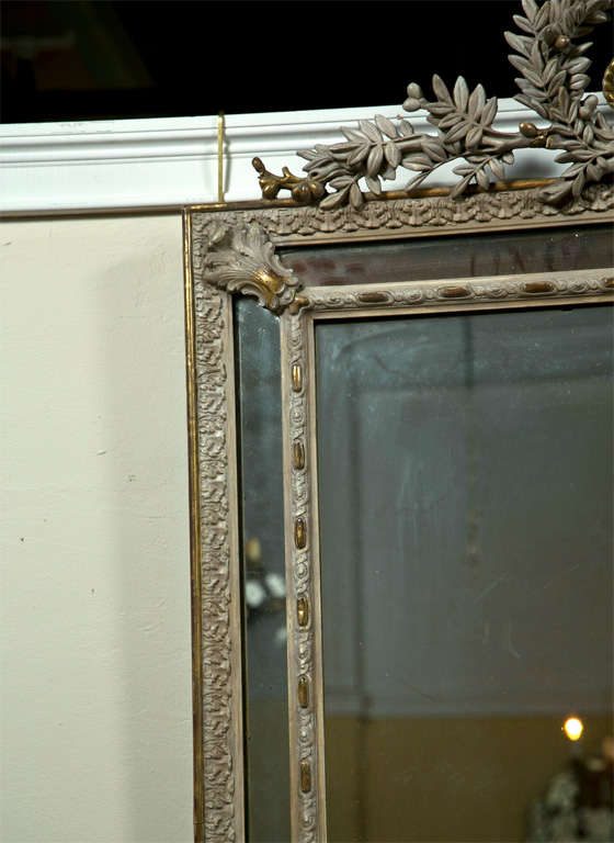 French Louis XVI Style Painted Mirror 4