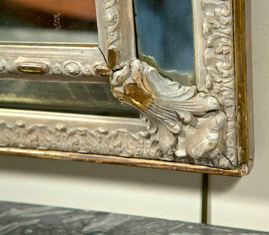French Louis XVI Style Painted Mirror 5