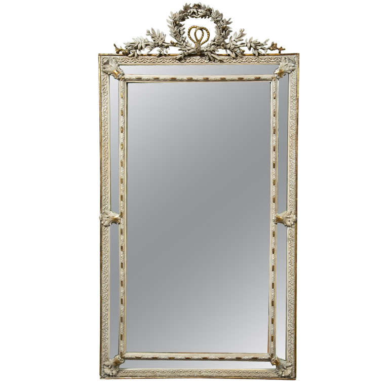 French Louis XVI Style Painted Mirror 1