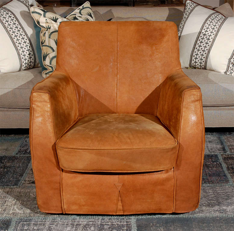 Modern Leather Club Chair At 1stdibs