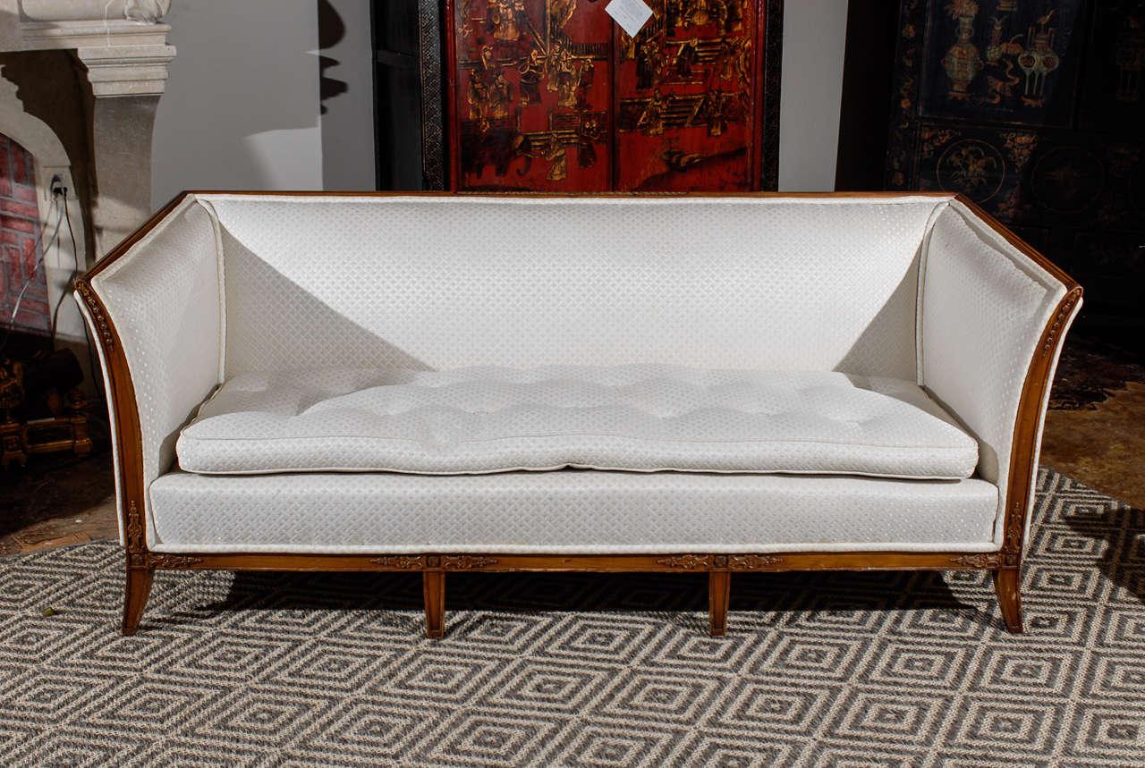 italian style vintage sofa in walnut at 1stdibs