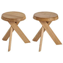 Pair of stools Pierre Chapo
