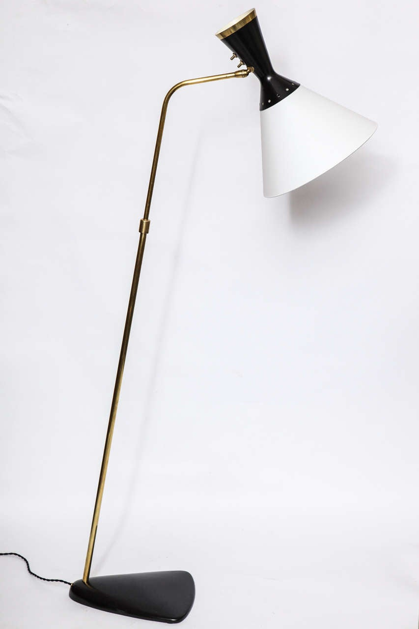 A 1950s French articulated floor lamp by Boris Lacroix.