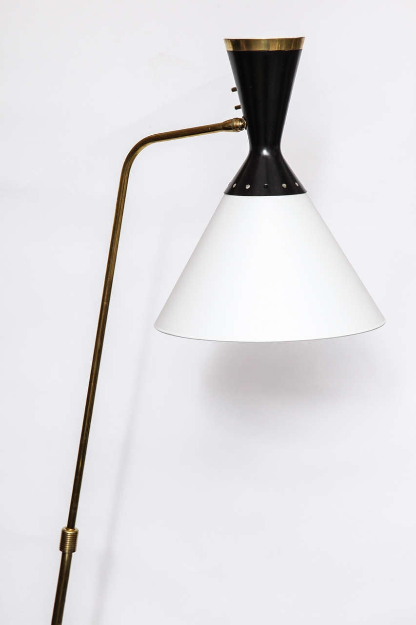 Mid-Century Modern 1950s French Articulated Floor Lamp by Boris Lacroix For Sale