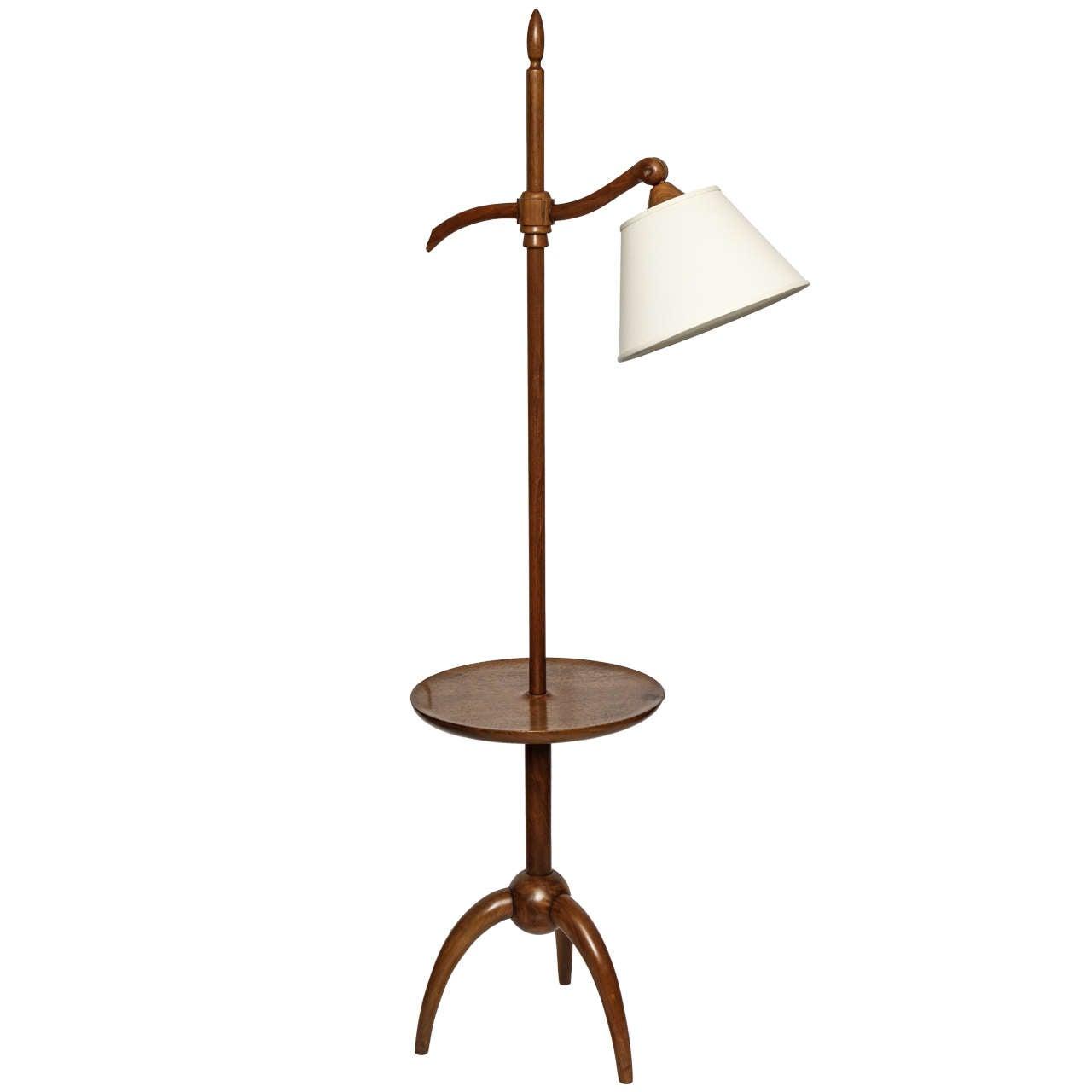 1940s Art Moderne Floor Lamp Attributed to Robsjohn-Gibbings