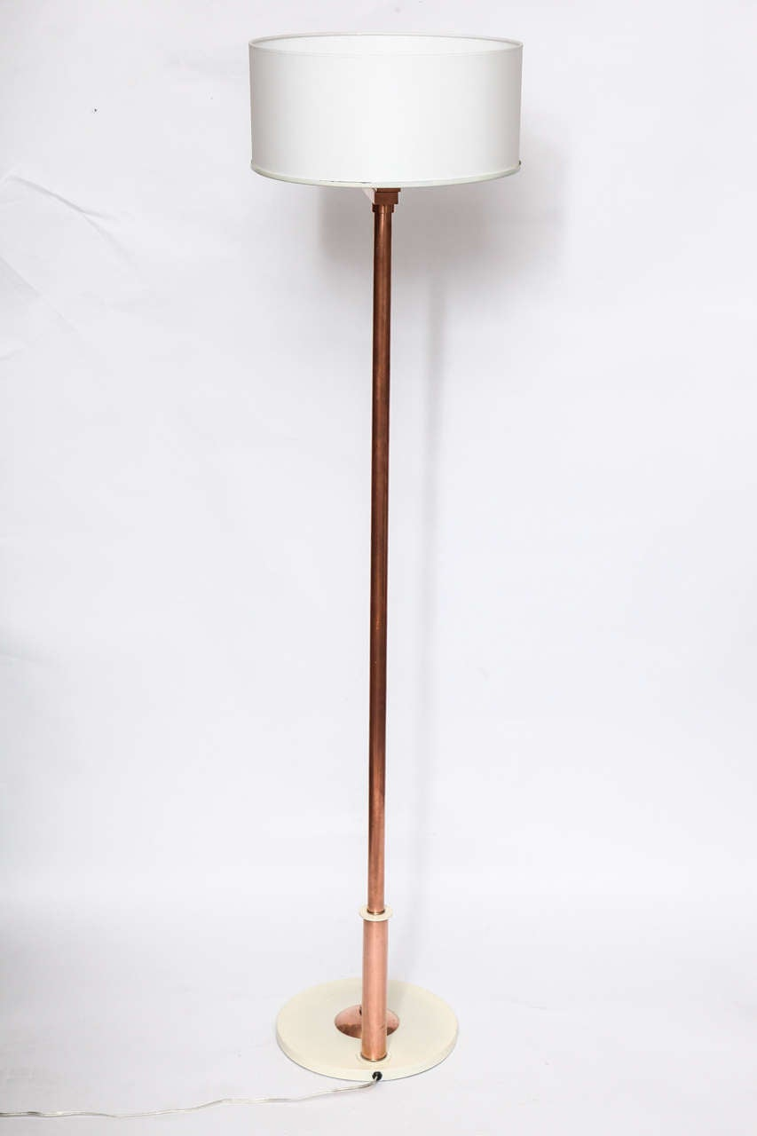 1930s american modernist floor lamp by kurt versen for for 1930s floor lamp