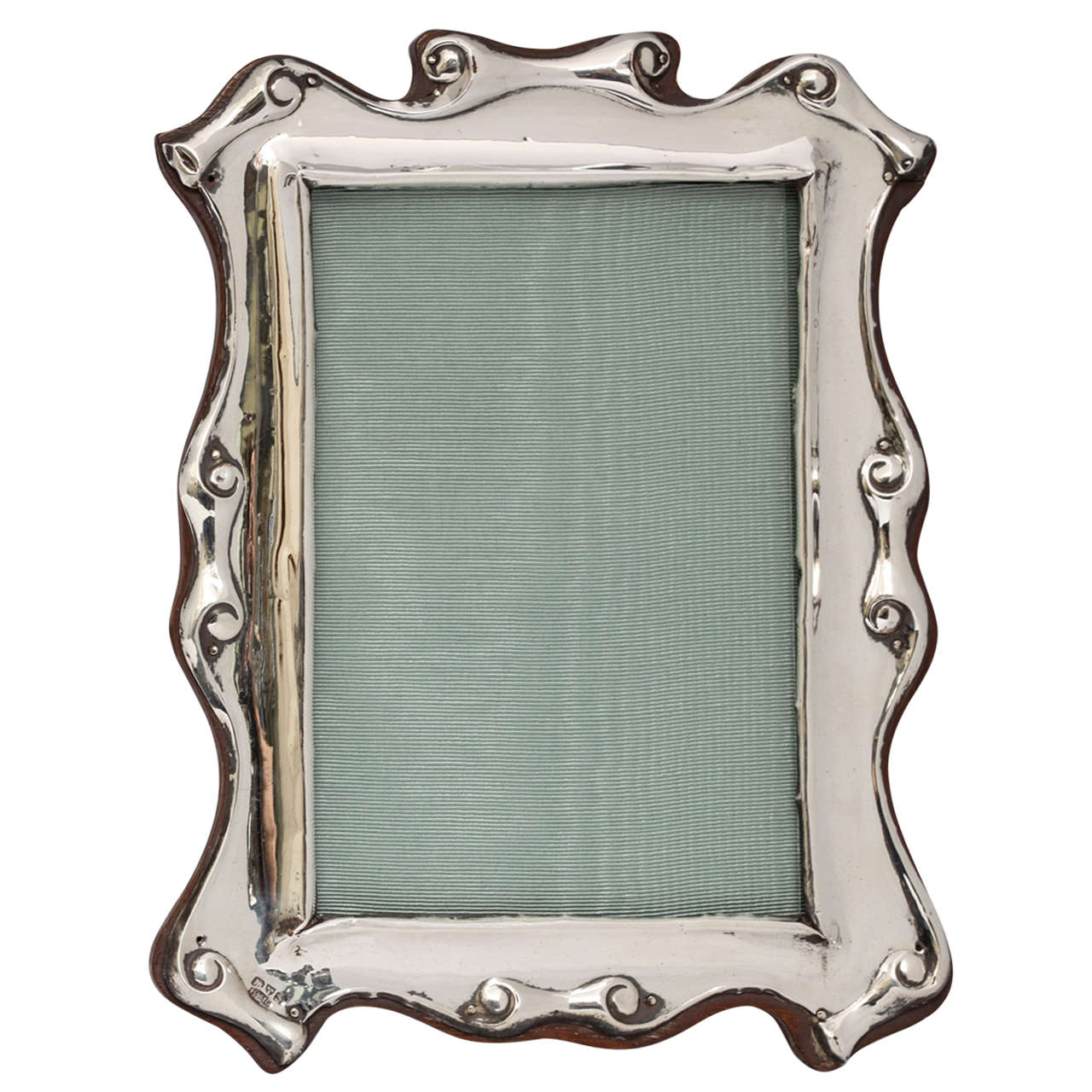 "Edwardian Sterling Silver ""Scroll"" Design Picture Frame For Sale"