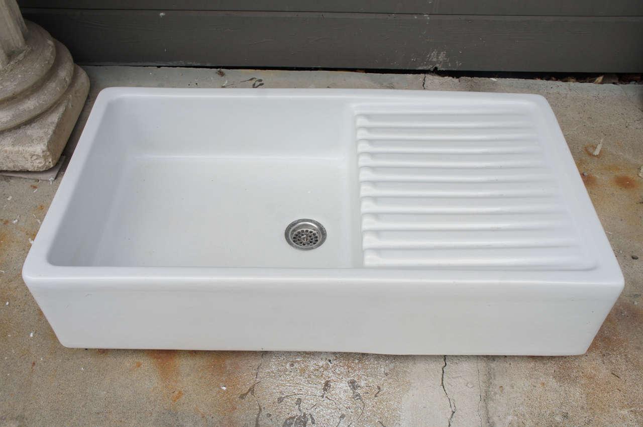 French farm kitchen sink at 1stdibs - Kitchen sink in french ...