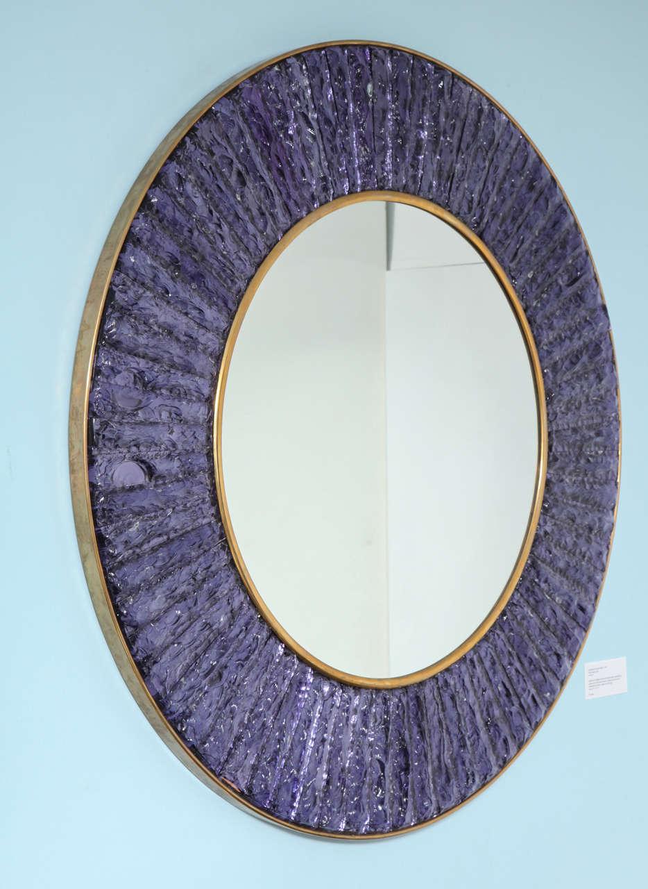 Italian Studio Built Circular Mirror by Ghiro Studio