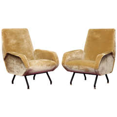 Pair of Architectural Lounge Chairs