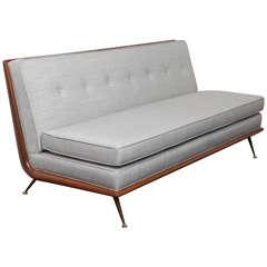 Rare Armless Sofa by T. H. Robsjohn-Gibbings