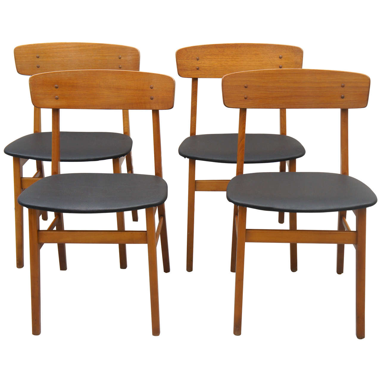 Set of four danish farstrup dining chairs at 1stdibs