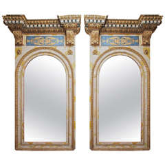 Pair of 18th Century Roman Trumeau Mirrors