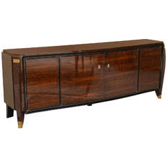 Fine Late Art Deco Ebony De Macassar Buffet by Jules Leleu