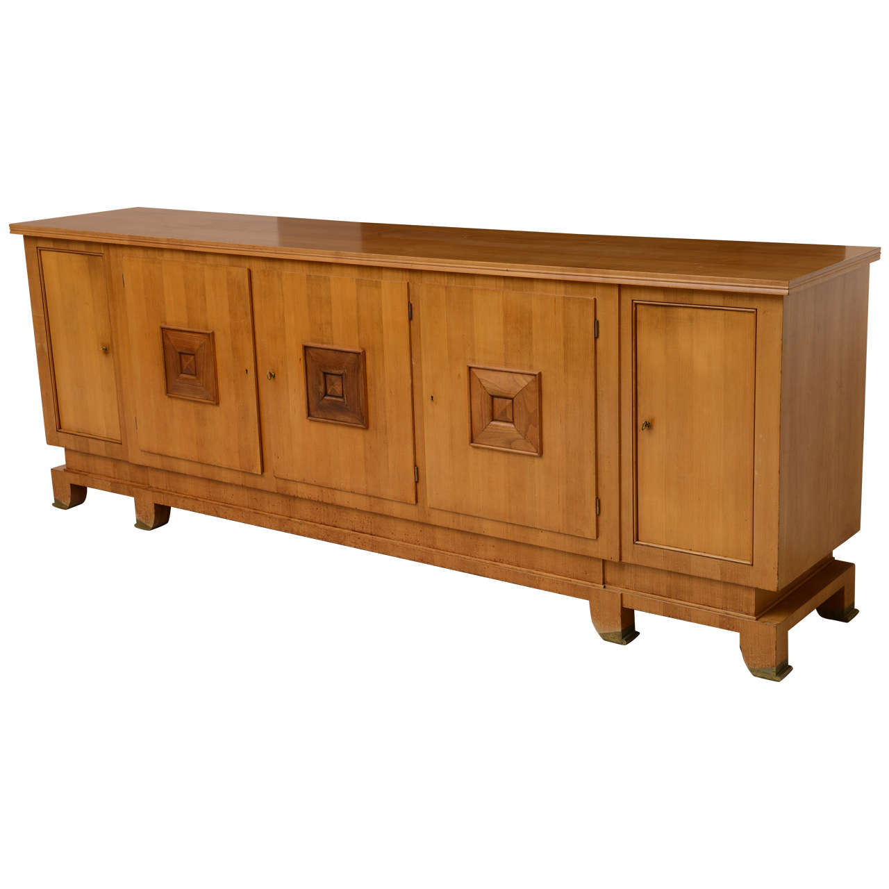 Fine French Modern Fruitwood Sideboard or Buffet by Jules Leleu