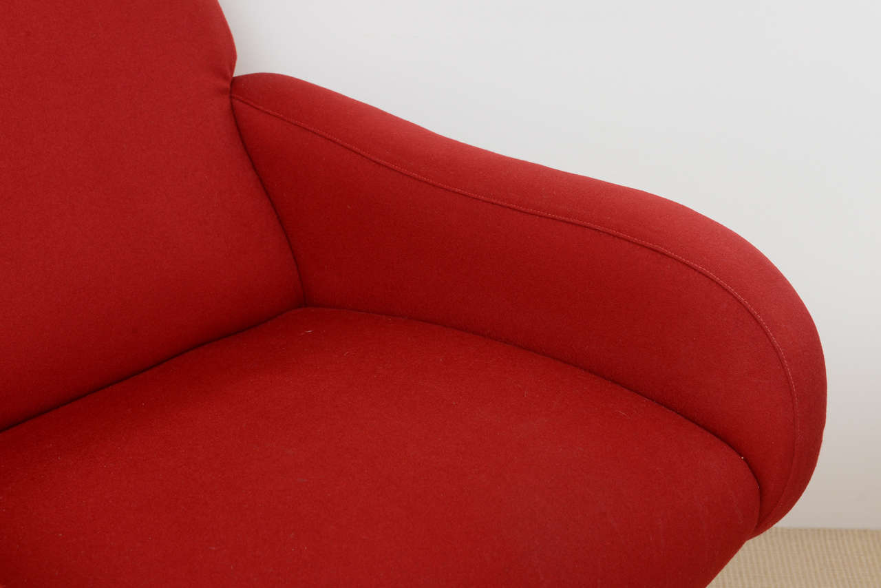 Pair of Italian Modern Armchairs, Marco Zanuso In Excellent Condition For Sale In Miami, FL