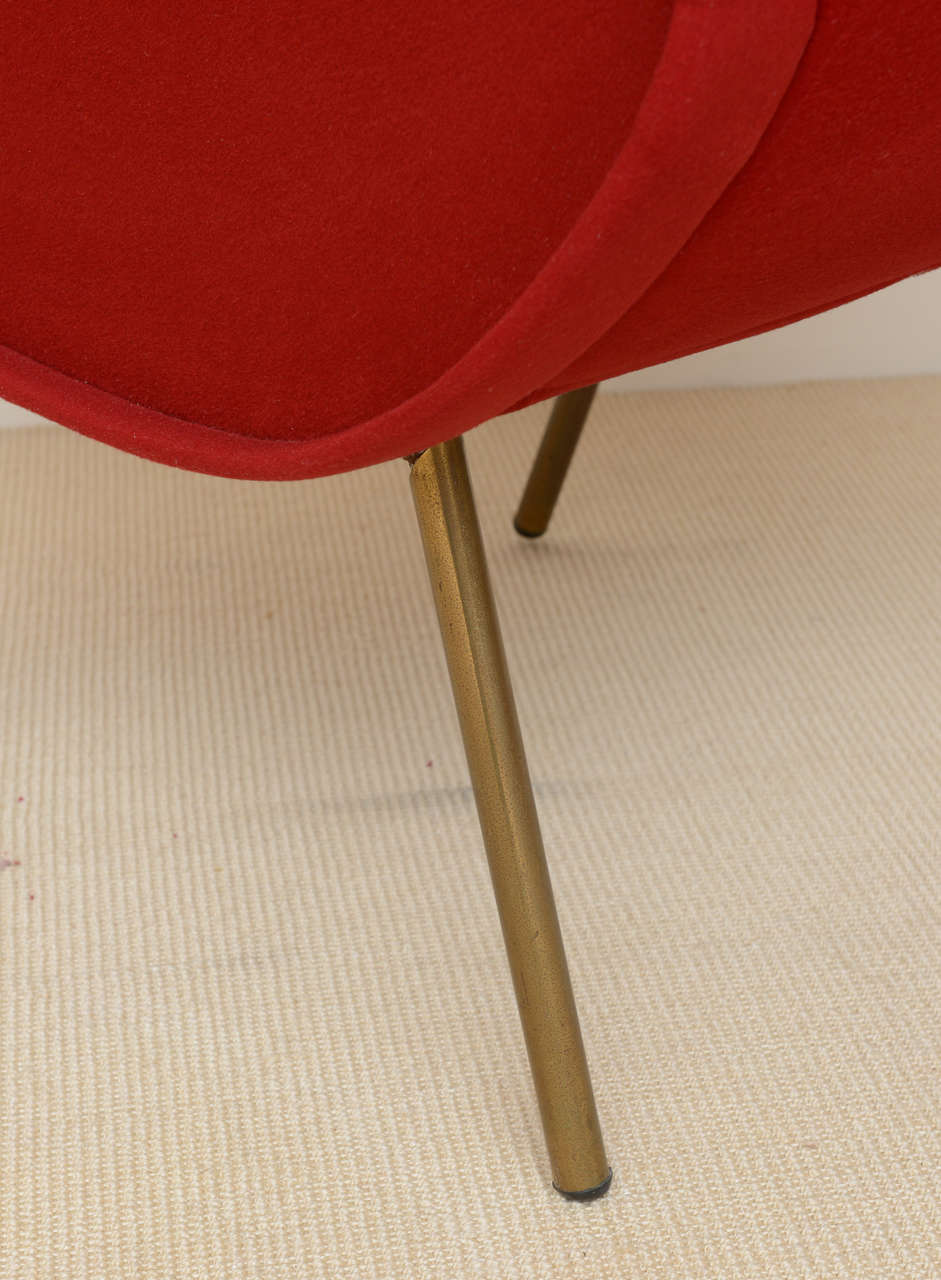 Pair of Italian Modern Armchairs, Marco Zanuso For Sale 2