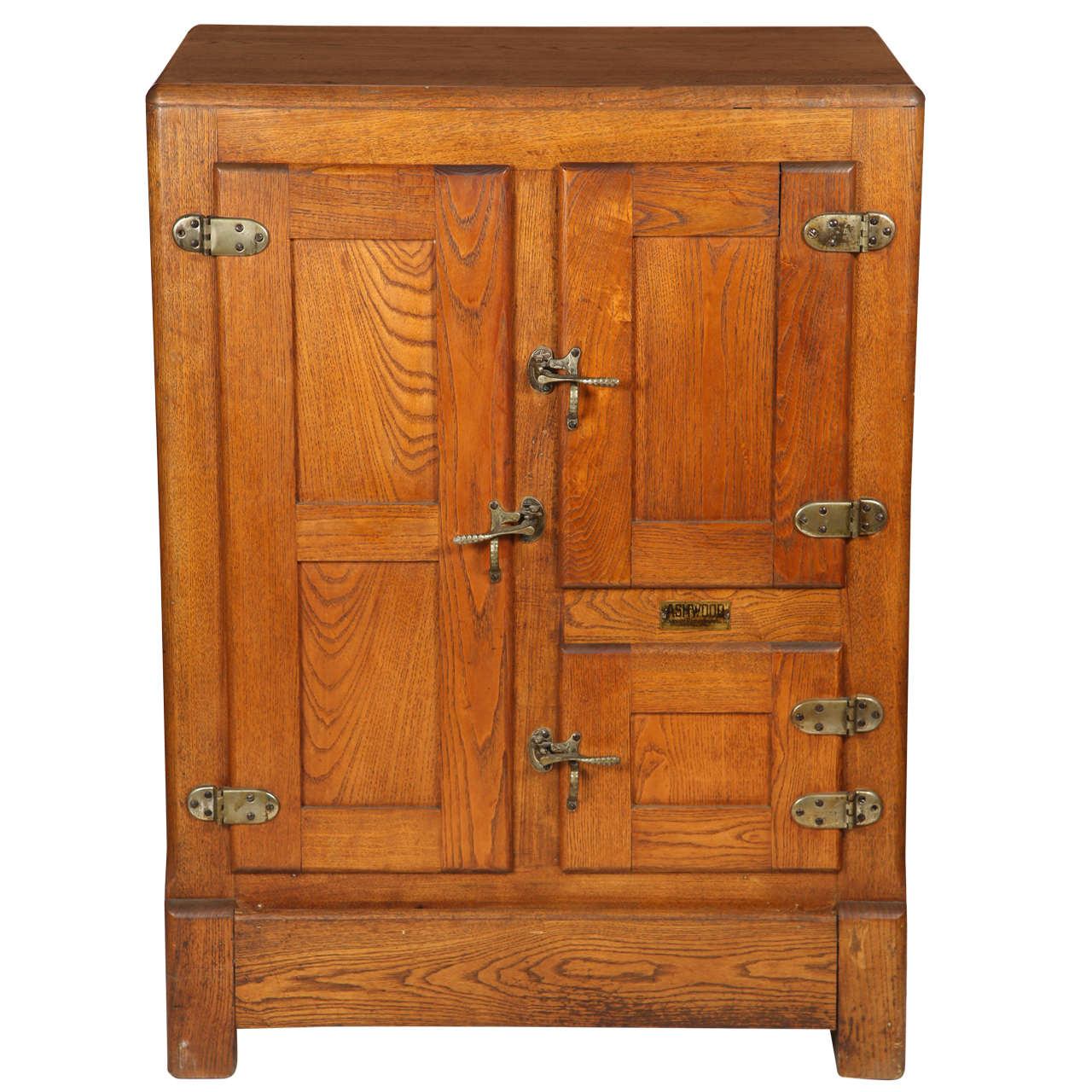 Antique Oak Ice Box At 1stdibs
