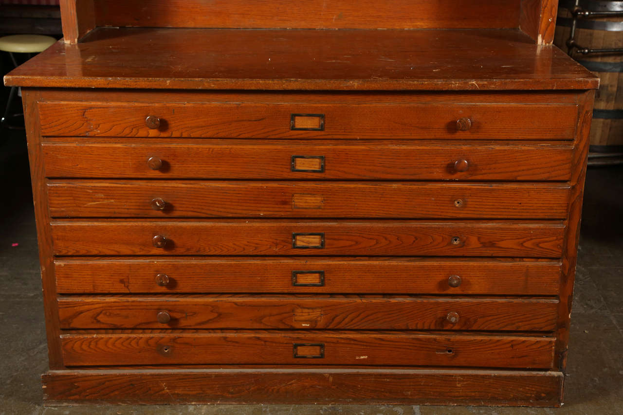 Bon This Wooden Cabinet Has Seven Drawers On The Bottom. Three Doors And Six  Drawers In