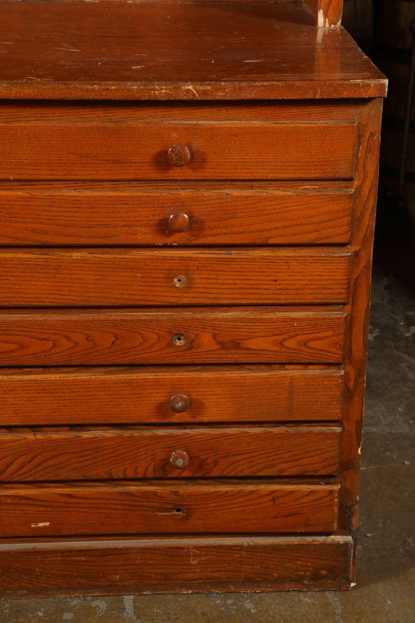 antique original oak map cabinet for sale at 1stdibs