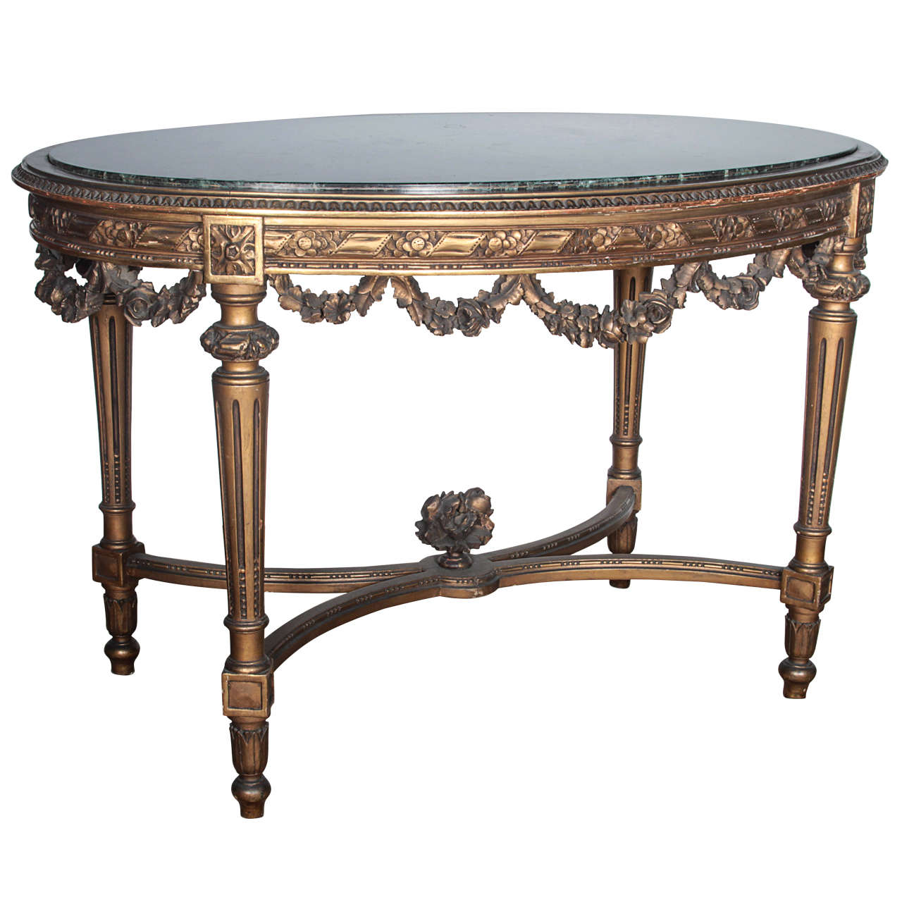 louis xvi carved center table with marble top at 1stdibs. Black Bedroom Furniture Sets. Home Design Ideas