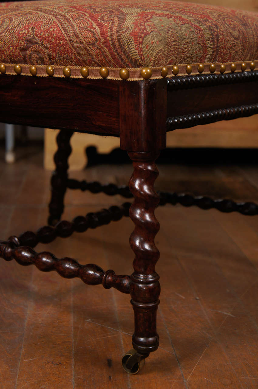 Gothic Revival Walnut Side Chair on Casters For Sale 3