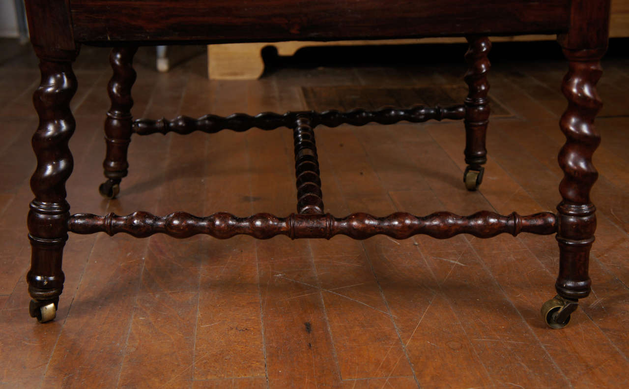 Gothic Revival Walnut Side Chair on Casters For Sale 4
