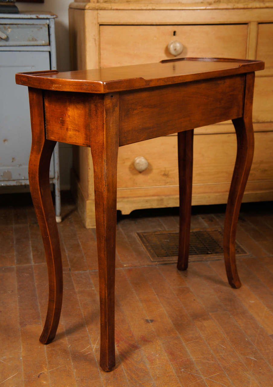 French Mahogany Single Drawer Small End Table At 1stdibs