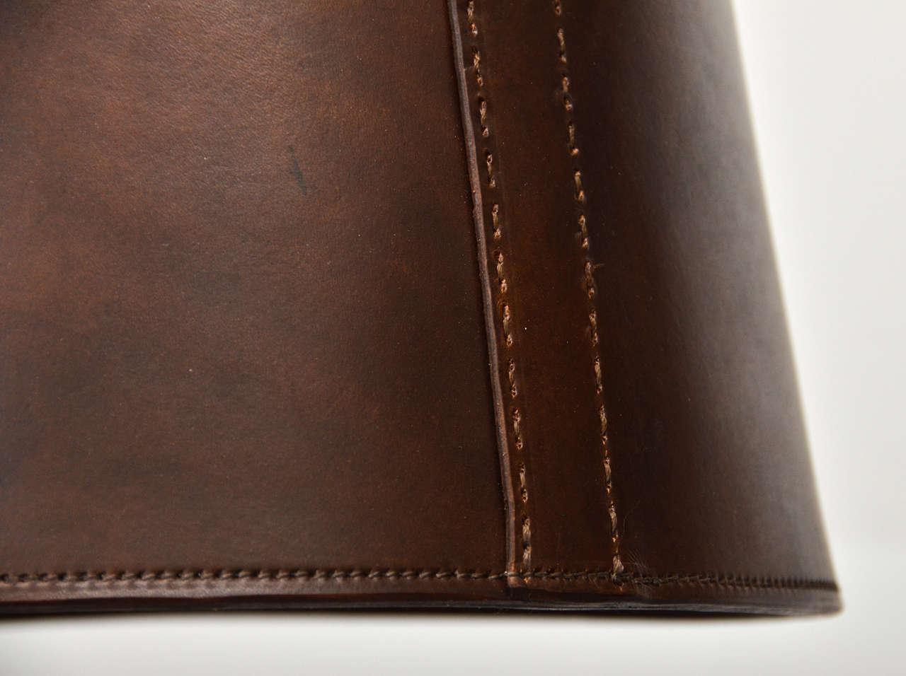 Custom Leather Pendant Light At 1stdibs