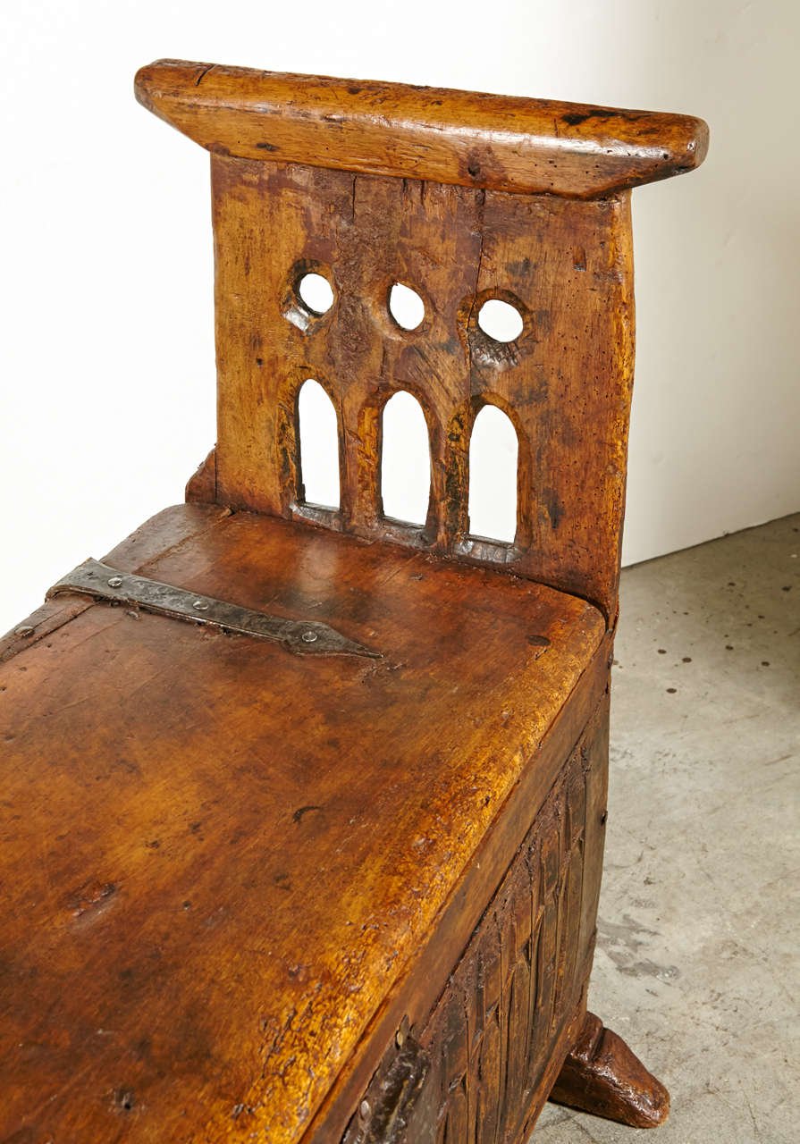 600 Year Old French Gothic Archebanc At 1stdibs