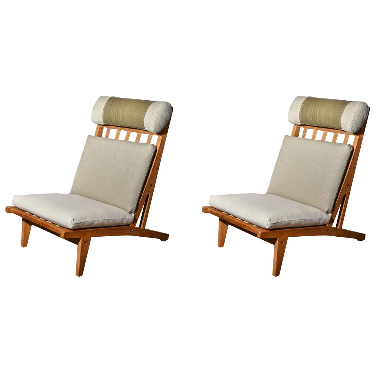 Mid Century Danish Deck Chair By Hans Wegner At 1stdibs