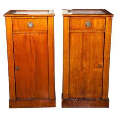 Pair of Antique Biedermeier Style Nightstands